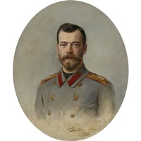 portrait of tsar nicholas ii by ernst friederich von liphart