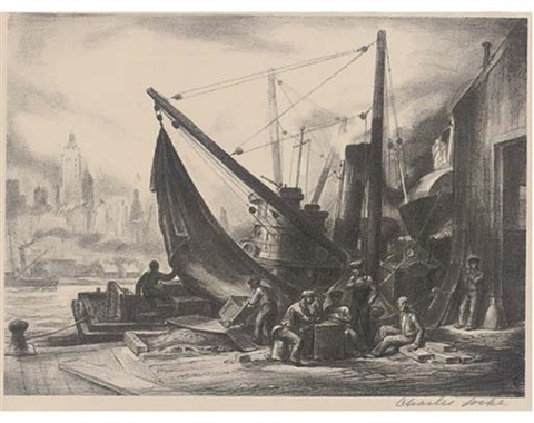 new york harbour by charles wheeler locke