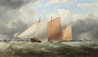 yacht racing in dublin bay by matthew kendrick