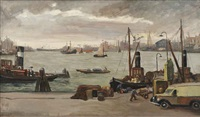 a view of a harbor by claas prins