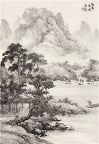 溪亭清远 by ma qi'ou