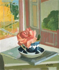 rose in a window by john coyle