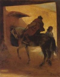 départ du cavalier by louis-ferdinand antoni