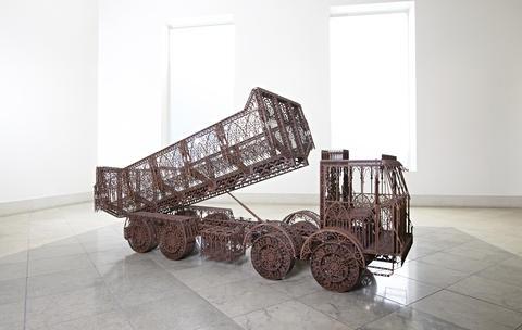 dump truck by wim delvoye