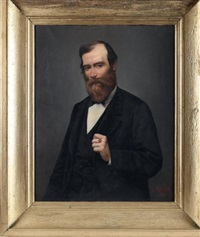 portrait d'homme by pierre emile a. veyssier