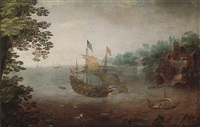 a dutch east india company yacht by hendrik cornelisz vroom