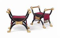 stools (pair) by percier et fontaine