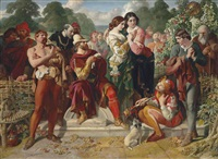 the wrestling scene in as you like it by daniel maclise