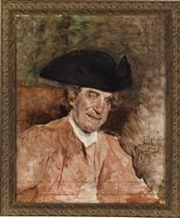 portrait eines herren mit dreispitz by tito lessi