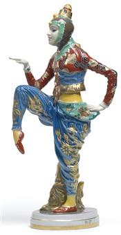 figur koreanischer tanz by constantin holzer-defanti