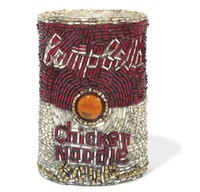 chicken noodle soup can by liza lou