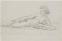 jeune femme nue by andré derain