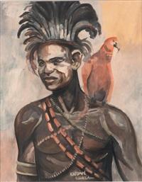 katompé (congo): portrait d'africain by fernand allard l'olivier