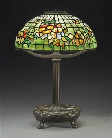 pansy table lamp by tiffany studios