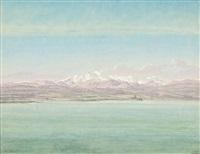 vue du mont rose depuis le lac majeur by jean-antoine linck