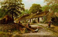 see-saw, the old cottage homes, lamlash, arran by albert dunington