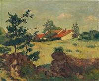 paysage de campagne by eugene alluaud