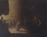 joseph interpreting pharaoh's dreams by paulus lesire