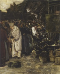 scène de marché by gaston hochard