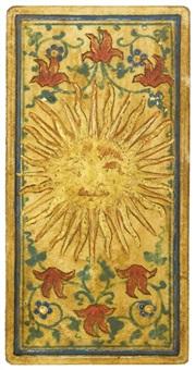 il sole; la stella; il cavaliere di coppe, e altre sei by italian school-lombardy (15)