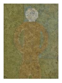 personaje en gris, 1980 by rufino tamayo