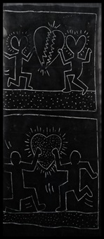 untitled, subway drawing by keith haring