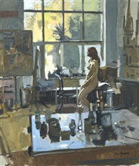 nude in an interior by ken howard