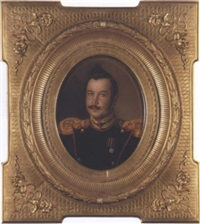 portrait of an officer by alekseï ivanovich korzukhin