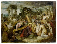 christ and saint veronica on the road to calvary by hieronymus francken the younger