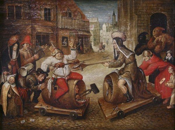 le combat de carnaval et carême ou la joute du gras et du maigre by pieter brueghel the younger