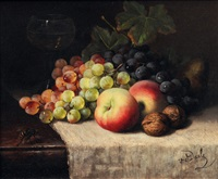 fruit still life with wasp by charles van den daele
