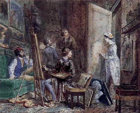 latelier du peintre by edmond morin