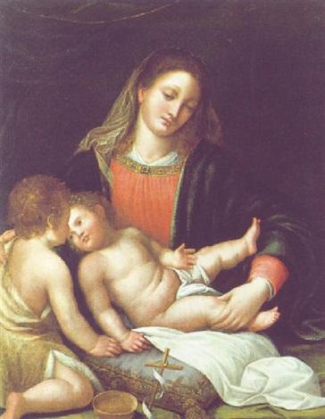 madonna mit kind by romanino girolamo romani
