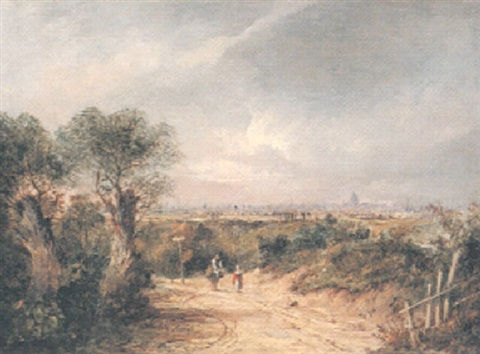 view of london from hampstead with a distant view of stpauls by charlotte nasmyth