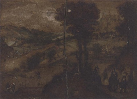 the flight into egypt by lucas van valkenborch