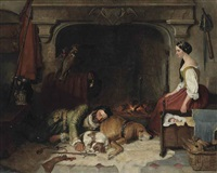 the hawker's rest by sir edwin henry landseer