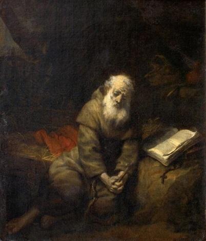 un ermite en prière by gerbrand van den eeckhout