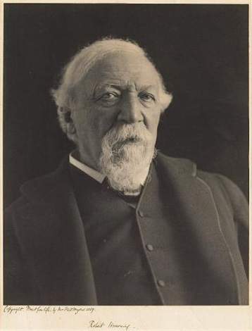 portrait of robert browning by eveleen w.h. myers