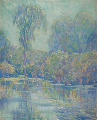 pond in spring by daniel putnam brinley