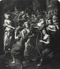 miriam and the women of israel rejoicing by johann hulsmann