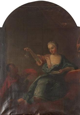 jeune femme aux bulles de savon by jean baptiste santerre