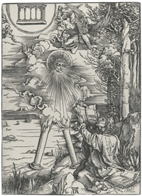 saint john devouring the book (from the apocalypse) by albrecht dürer