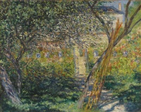 le jardin de vétheuil by claude monet