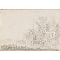 boaters on a canal by jan josefsz van goyen