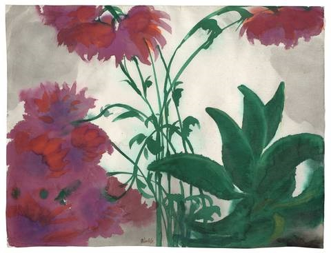 rote dahlien by emil nolde
