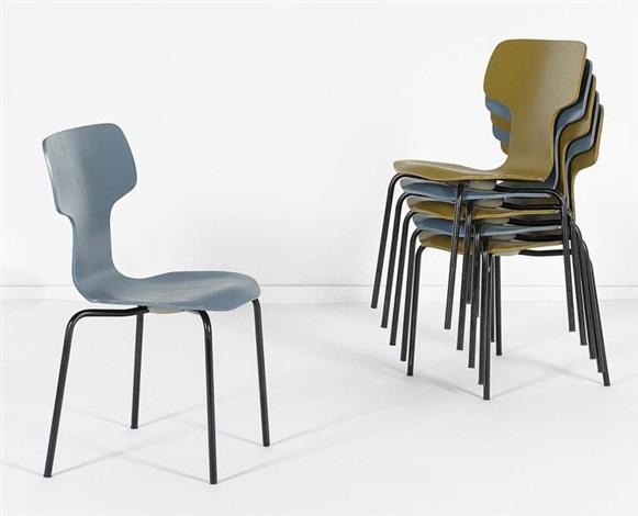 suite de six chaises pour enfants modèle 3103 ou chaise marteau set of 6 by arne jacobsen