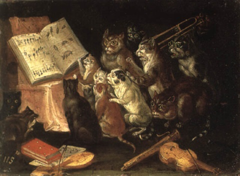 A musical gathering of cats by Ferdinand van Kessel on artnet
