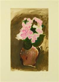 les fleurs violettes by georges braque