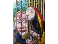 man with parrot by jock mcfadyen
