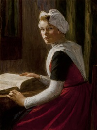 orphan girl from amsterdam with a bible by nicolaes van der waay